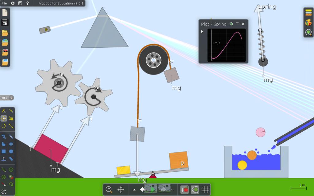 Pomoc dydaktyczna do lekcji fizyki - aplikacja Algoodo