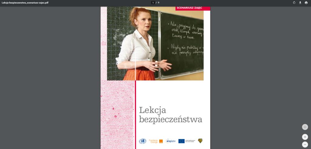 Scenariusz lekcji wychowawczej - Grafika artykułu nt. lekcji bezpieczeństwa